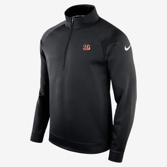 Nike Therma (NFL Bengals) Men's Half-Zip Long Sleeve Top