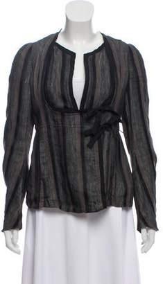 Dries Van Noten Striped Linen-Blend Jacket