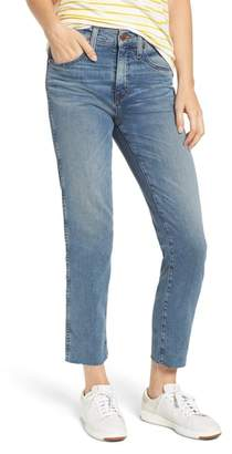 Caslon Raw Hem Slim Straight Leg Jeans