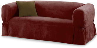 JCPenney Maytex Mills Maytex Smart Cover Stretch Suede 1-pc. Loveseat Slipcover