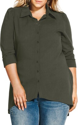 City Chic Everyday High/Low Tunic Top