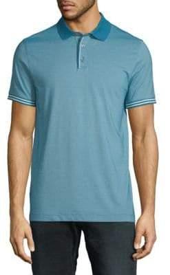 Perry Ellis Stripe-Trim Polo Shirt