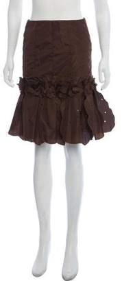 Blumarine Ruffled Pleated Skirt