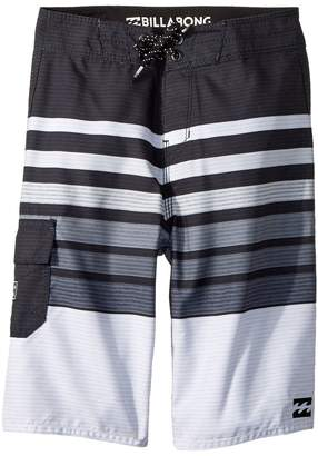 Billabong Kids All Day OG Stripe Boardshorts Boy's Swimwear