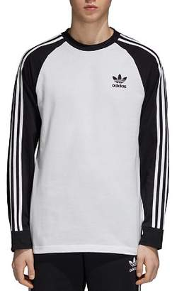 adidas Three-Stripe Long-Sleeve Color-Block Tee