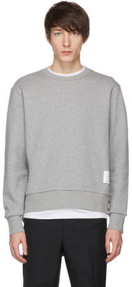 Thom Browne Grey Stripe Crewneck Sweatshirt