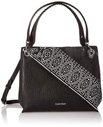 Calvin Klein Raya Printed Bubble Lamb Novelty Woven Chain Hobo