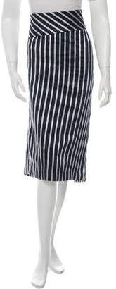 Cavallini Erika Striped Midi Skirt w/ Tags