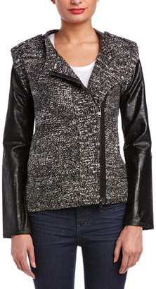 Cynthia Vincent Twelfth Street By Contrast Sleeve Jacket