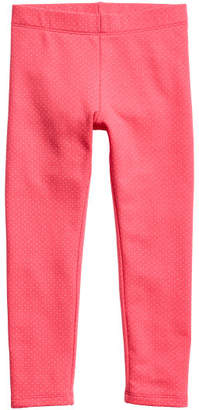 H&M Thick Jersey Leggings - Red