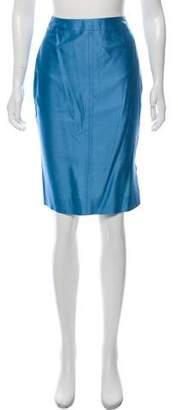 Christian Lacroix Satin Knee-Length Skirt