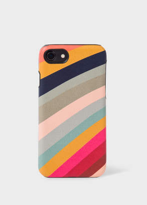 Paul Smith 'Swirl' Print Leather iPhone 7 Case