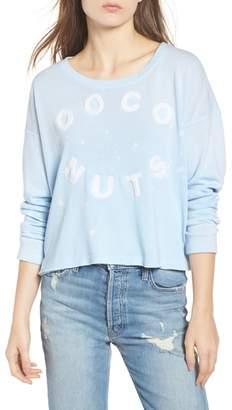 Sundry Coco Nuts Light Fleece Sweatshirt