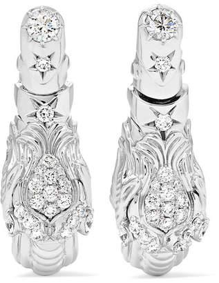 Gucci Dionysus 18-karat White Gold Diamond Earrings