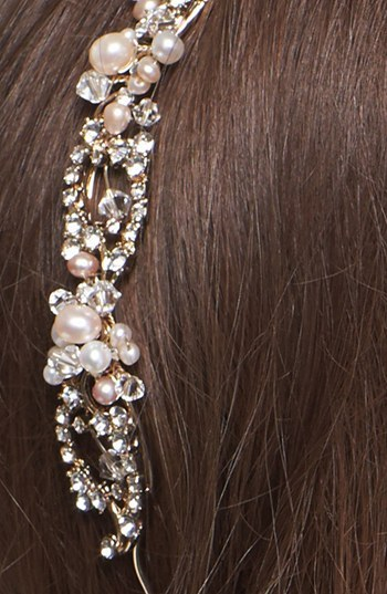 Nina 'Elaine' Crystal & Faux Pearl Headband