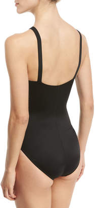 Magicsuit Anastasia High-Neck One-Piece Swimsuit, Black, Plus Size