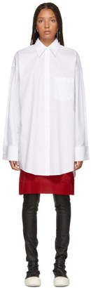 Maison Margiela White Long Poplin Shirt