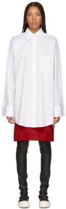 Maison Margiela White Long Poplin Shirt