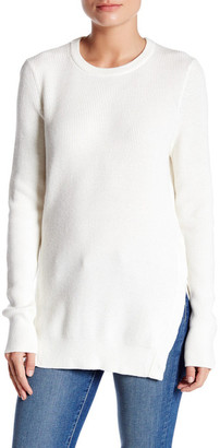 Equipment Crew Neck Snap Button Hem Sweater $298 thestylecure.com