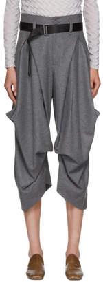 Issey Miyake Grey Wool Voluminous Button Trousers