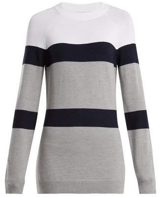 Lndr - Apres Striped Knit Wool Blend Sweater - Womens - White Multi