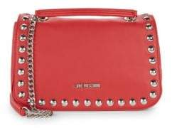 Love Moschino Studded Faux Leather Shoulder Bag