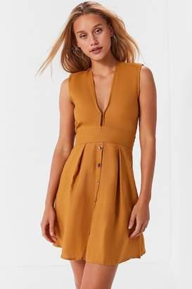 Faithfull The Brand Bari Linen Tie-Back Dress