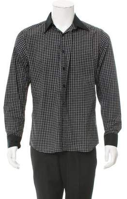 Givenchy Square Print Button-Up Shirt