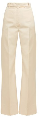 Golden Goose High Rise Flared Trousers - Womens - Cream