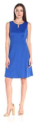 Ellen Tracy Women's Sleeveless Fit and Flare Dress