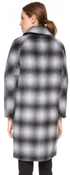 Derek Lam 10 Crosby Oversized Plaid Coat
