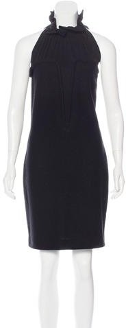 Saint Laurent Yves Saint Laurent Metallic Sheath Dress
