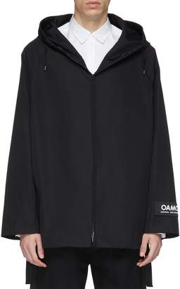 Oamc Strap outseam hooded raglan short parka