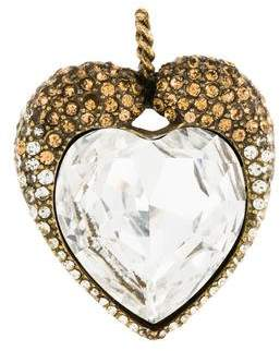 Jay Strongwater Crystal Heart Pendant