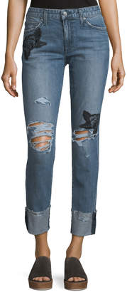 Joe's Jeans The Smith Distressed Straight-Leg Ankle Jeans