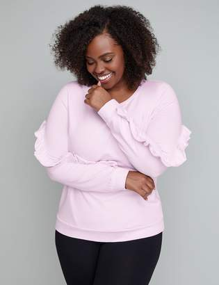 Lane Bryant Ruffle Active Sweatshirt