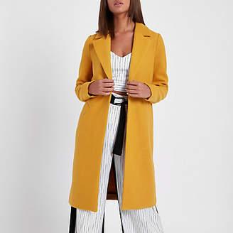 River Island Womens Mustard yellow tailored coat