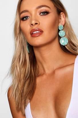 boohoo Resin Circle Drop Earrings