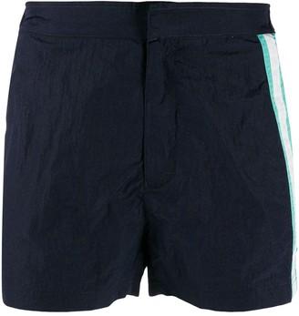 Islang stripe detail swim shorts