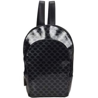 Celine Vintage Black Cloth Backpacks