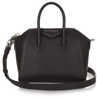 Givenchy Antigona Mini Leather Cross Body Bag - Womens - Black