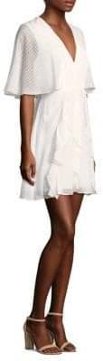 BCBGMAXAZRIA Flutter-Sleeve Fit-&-Flare Dress