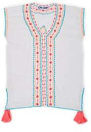 Chach Kids' Saskia Embroidered Cotton Cover-Up - White
