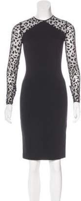 Stella McCartney Mesh-Paneled Bodycon Dress