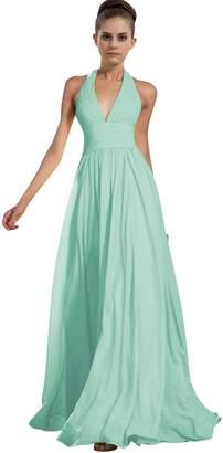 ThaliaDress Chiffon Halter Bridesmaid Dress Prom Gown T27LF US
