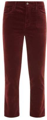 J Brand Ruby Velvet Cropped Trousers