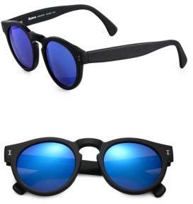 Illesteva Leonard Round Sunglasses $190 thestylecure.com