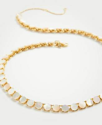 Ann Taylor Pearlized Disc Necklace