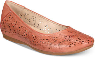 Bare Traps Baretraps Mariah Perforated Memory Foam Hidden Wedge Flats
