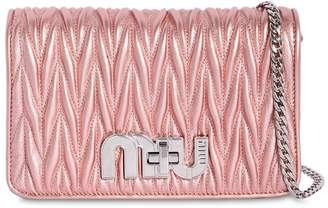 Miu Miu (ミュウミュウ) - MIU MIU MY MIU スモール キルトメタリックレザーバッグ